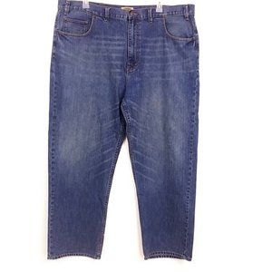 Foundry Mens Faded Jeans Straight Leg Z02